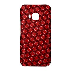 Red Passion Floral Pattern HTC One M9 Hardshell Case