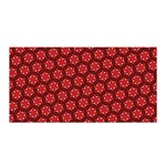 Red Passion Floral Pattern Satin Wrap Front