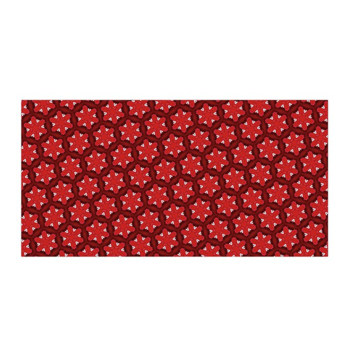Red Passion Floral Pattern Satin Wrap