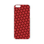 Red Passion Floral Pattern Apple Seamless iPhone 6/6S Case (Transparent) Front
