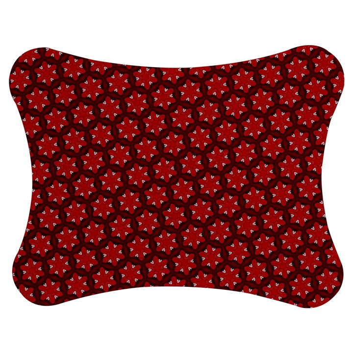 Red Passion Floral Pattern Jigsaw Puzzle Photo Stand (Bow)