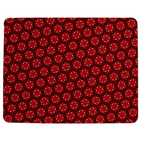 Red Passion Floral Pattern Jigsaw Puzzle Photo Stand (Rectangular)