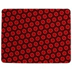 Red Passion Floral Pattern Jigsaw Puzzle Photo Stand (Rectangular) Front