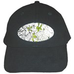 Floral Pattern Background  Black Cap Front