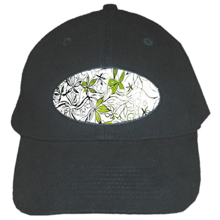 Floral Pattern Background  Black Cap