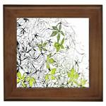 Floral Pattern Background  Framed Tiles Front