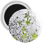 Floral Pattern Background  3  Magnets Front