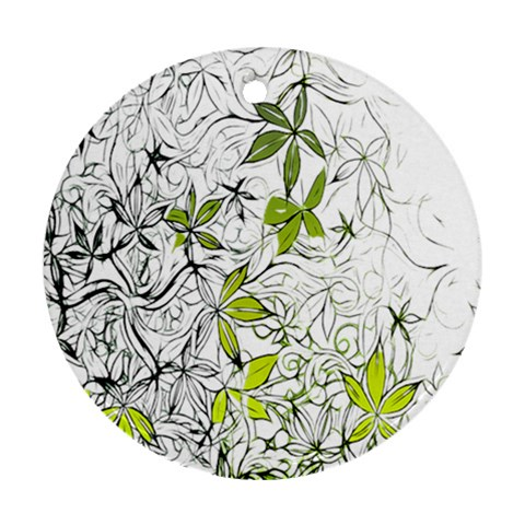Floral Pattern Background  Ornament (Round)