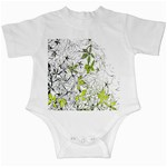 Floral Pattern Background  Infant Creepers Front
