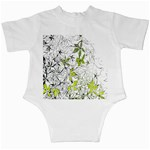 Floral Pattern Background  Infant Creepers Back