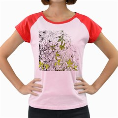 Floral Pattern Background  Women s Cap Sleeve T-Shirt