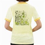 Floral Pattern Background  Women s Fitted Ringer T-Shirts Back