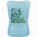 Floral Pattern Background  Women s Baby Blue Tank Top Back