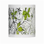 Floral Pattern Background  White Mugs Center