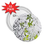 Floral Pattern Background  2.25  Buttons (10 pack)  Front