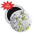 Floral Pattern Background  2.25  Magnets (10 pack)  Front