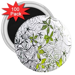 Floral Pattern Background  3  Magnets (100 pack)