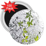 Floral Pattern Background  3  Magnets (100 pack) Front