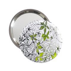 Floral Pattern Background  2.25  Handbag Mirrors