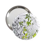 Floral Pattern Background  2.25  Handbag Mirrors Front