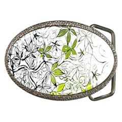 Floral Pattern Background  Belt Buckles