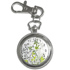 Floral Pattern Background  Key Chain Watches