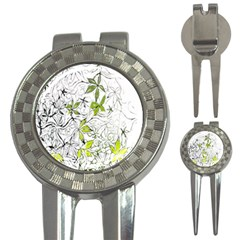 Floral Pattern Background  3-in-1 Golf Divots