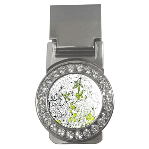 Floral Pattern Background  Money Clips (CZ)