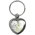 Floral Pattern Background  Key Chains (Heart)  Front