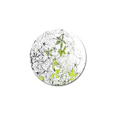 Floral Pattern Background  Golf Ball Marker (4 pack)