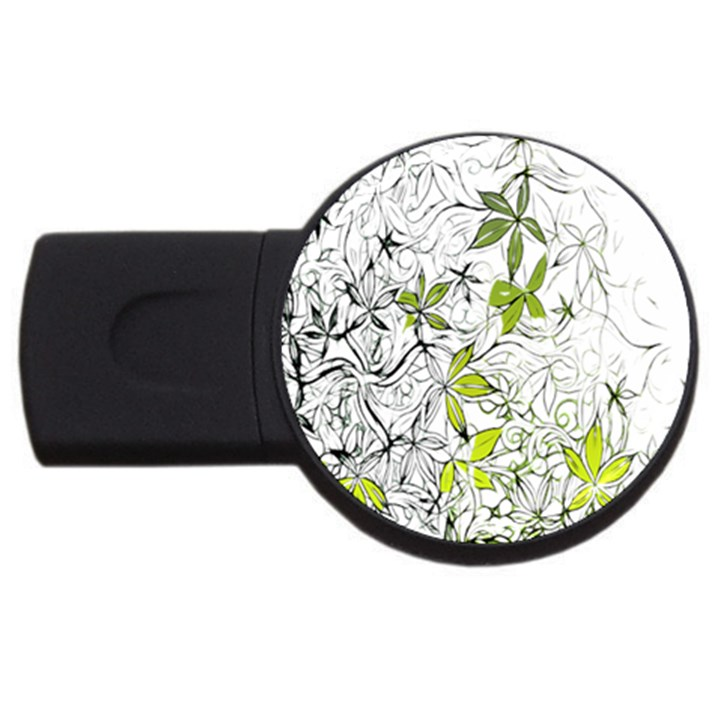 Floral Pattern Background  USB Flash Drive Round (1 GB)