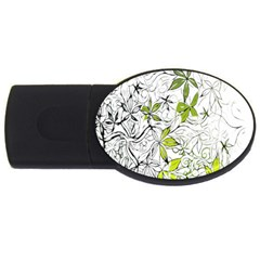 Floral Pattern Background  USB Flash Drive Oval (2 GB)