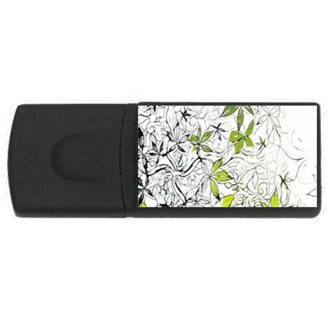 Floral Pattern Background  USB Flash Drive Rectangular (2 GB)