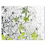 Floral Pattern Background  Rectangular Jigsaw Puzzl Front