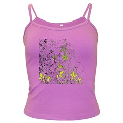 Floral Pattern Background  Dark Spaghetti Tank