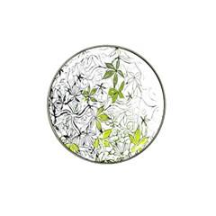 Floral Pattern Background  Hat Clip Ball Marker