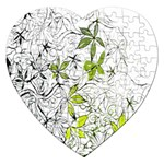 Floral Pattern Background  Jigsaw Puzzle (Heart) Front