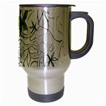 Floral Pattern Background  Travel Mug (Silver Gray) Right