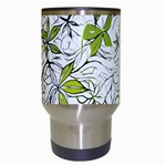 Floral Pattern Background  Travel Mugs (White) Center