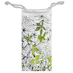 Floral Pattern Background  Jewelry Bags Back