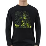Floral Pattern Background  Long Sleeve Dark T-Shirts Front