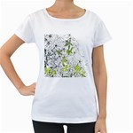Floral Pattern Background  Women s Loose-Fit T-Shirt (White) Front