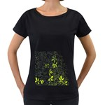 Floral Pattern Background  Women s Loose-Fit T-Shirt (Black) Front