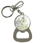 Floral Pattern Background  Bottle Opener Key Chains Front