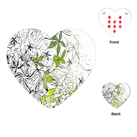 Floral Pattern Background  Playing Cards (Heart)