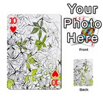 Floral Pattern Background  Playing Cards 54 Designs  Front - Heart10