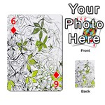 Floral Pattern Background  Playing Cards 54 Designs  Front - Diamond6