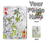 Floral Pattern Background  Playing Cards 54 Designs  Front - Diamond10