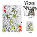 Floral Pattern Background  Playing Cards 54 Designs  Front - DiamondK