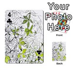 Floral Pattern Background  Playing Cards 54 Designs  Front - Club4